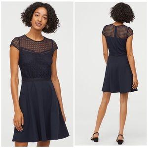 H&M Blue A-Line Dress (S)